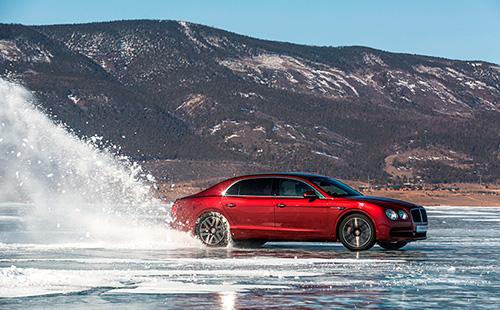 Новости компании - изображение 500Bentley-Flying-Spur-V8-Dynamics-on-Baikal-Ice на Bentleymoscow.ru!